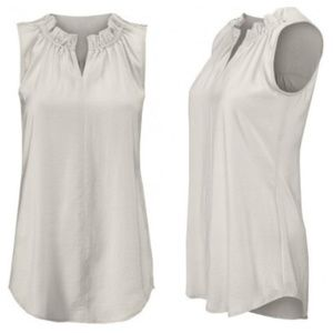 CABI Last Dance Tank Sleeveless Blouse Platinum